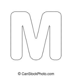 d8b43f9e71e1 Plantilla, isolated., rayado, m, señal, fondo., vector., diseño ...
