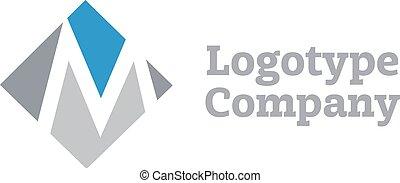 letra, marcar, m, sinal, vetorial, desenho, modelo, logotipo, identidade incorporada