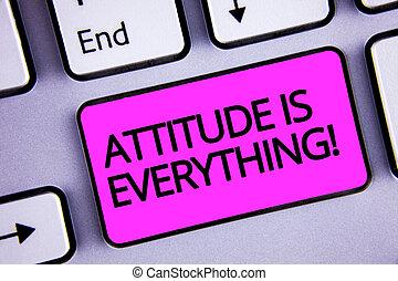 letra, texto, atitude, é, everything., conceito, significado, pessoal, perspectiva, perspectiva, orientação, comportamento, teclado, roxo, tecla, intention, criar, texto, mensagem computador, papel, essay.