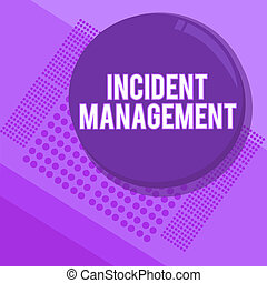 letra, texto, escrita, incidente, management., conceito, significado, processo, retornar, serviço, para, normal, correto, perigos