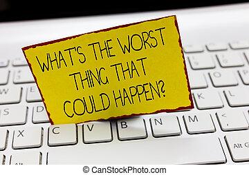 letra, texto, escrita, que, s, é, a, pior, coisa, que, could, happen, question., conceito, significado, carreira, perda, epidemia