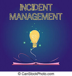 letra, texto, incidente, management., conceito, significado, processo, retornar, serviço, para, normal, correto, perigos