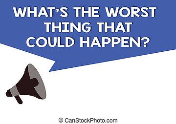 letra, texto, que, s, é, a, pior, coisa, que, could, happen, question., conceito, significado, carreira, perda, epidemia