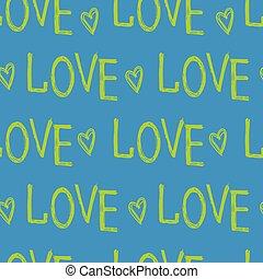 letras, amor, mano