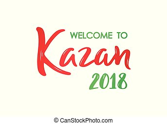 letras, bienvenida, 2018, kazan, banner.