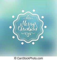 letras, blured, plano de fondo, feliz navidad