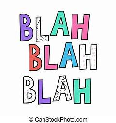 letras, cita, tipografía, blah
