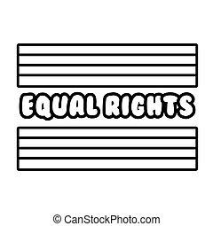 letras, comunidad, bandera, lgbtiq, estilo, derechos, igual, icono, línea