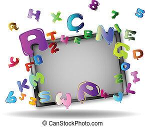 letras, e, números