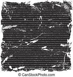 letras, grunge, números, fundo