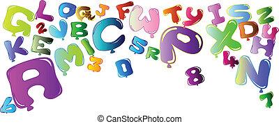 letras, números