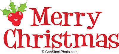 letras, navidad, alegre