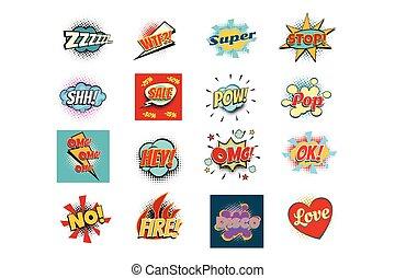 letras, palabra, frases, seth, textos, réplica, cómico