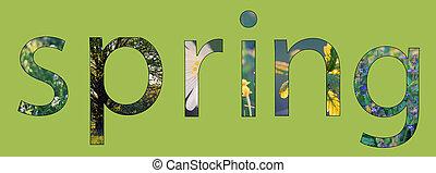 letras, primavera, conceito