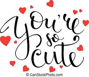 letras, usted, tan, lindo