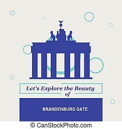Let's Explore the beauty of Brandenburg Gate Berlin, Germany National Landmarks