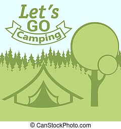 Let's go camping poster