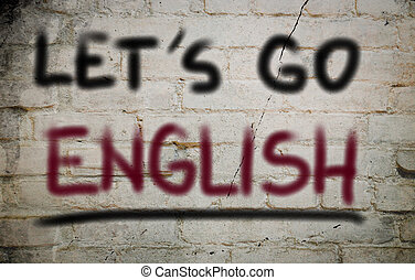 Let's Go English Concept