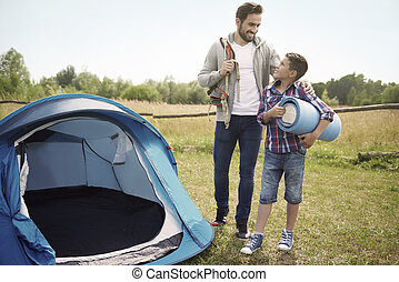 Let's our camping adventure begin now