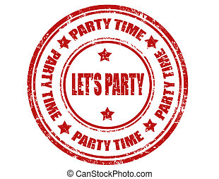 Let's Party-stamp