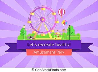 Lets Recreate Healthy Poster Vector Illustration - Lets ...