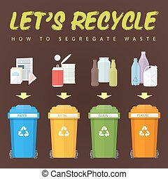 let's recycle waste concept illustration