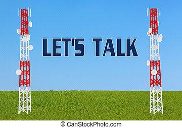 LET'S TALK concept