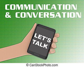 LET'S TALK concept - 3D illustration of LET'S TALK script on...