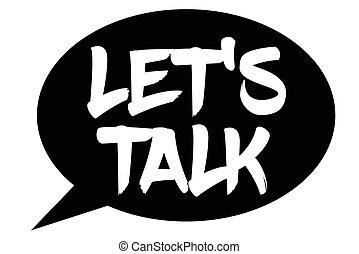 Let's Talk typographic stamp