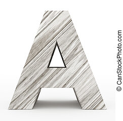 letter A 3d wooden isolated on white