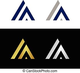 Letter A - Abstract letter A in triangle