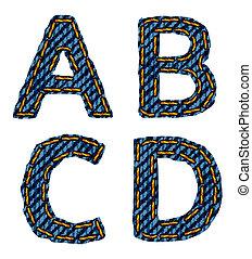 letter A B C D