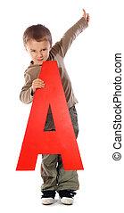 "Letter \""A\"" boy"