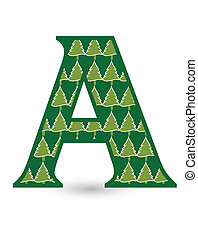 Letter A Christmas tree