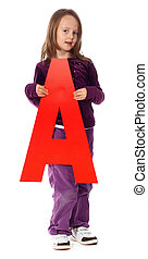 """Letter \""""A\"""" girl"""