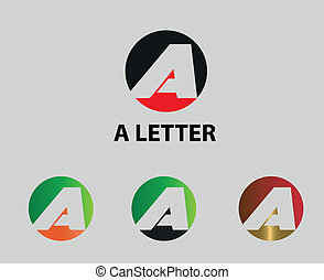 Letter A icon Vector illustration
