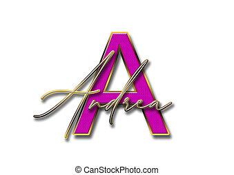 Letter, A, Lettering, Andrea - letter, a, lettering, andrea...