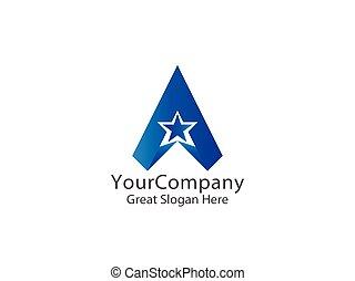 letter A logo. air arrow star creative apps design concept.