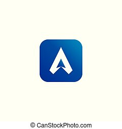 letter A logo. air star flow flight arrow icon design concept. creative apps vector illustration.