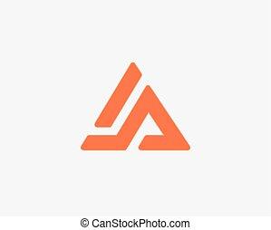 Letter A logo alphabet icon set .
