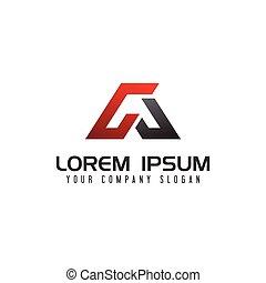 letter A Logo. auto design concept template