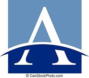 Letter A logo - Geometric letter A logo concept
