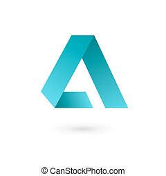 Letter A logo icon design template elements. Vector color...
