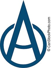 Letter A logo - Letter A in combination with circle