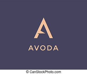 Letter A Logo - Letter A logo design template. Vector A ...