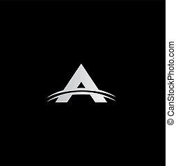 Letter A logo - Modern divided letter A logo concept