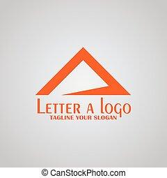 Letter A logo, - mountain logo design, vector icons.