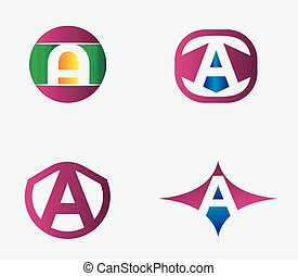 letter A logo template. Abstract