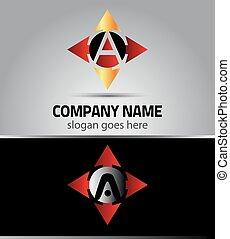 Letter A logo vector alphabet
