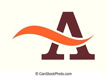 letter A logo vector icon concept